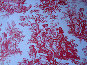 French-Toile-Gift-Wrap-Wrapping-Paper-30-034-x-6-039-Roll-Red