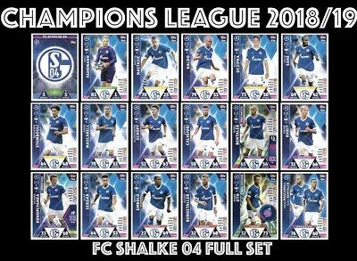 Topps Liga de Campeones 2018//19 Nabil bentaleb FC Schalke 04 no 108