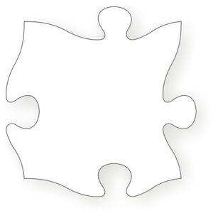 Blanc-Pieces-de-puzzle-infini-reprise-possible-10-pc-mince-materiaux