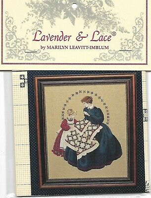 """/""""ANGEL OF GRACE/"""" BY Lavender and Lace COMPLETE CROSS STITCH MATERIALS"""
