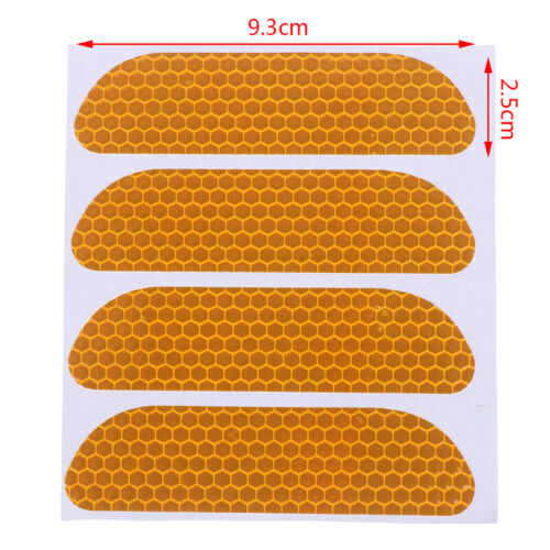 4x Universal Car Door Open Sticker Reflective Tape Safety Warning Decal L$