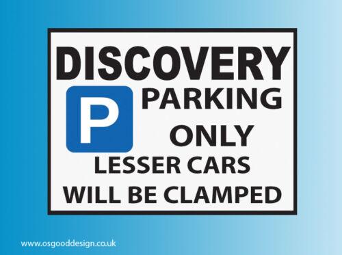 Discovery Parking Only Vinyl Sticker Land Rover Disco TDV6 SDV6 1 2 3 4 5 D035