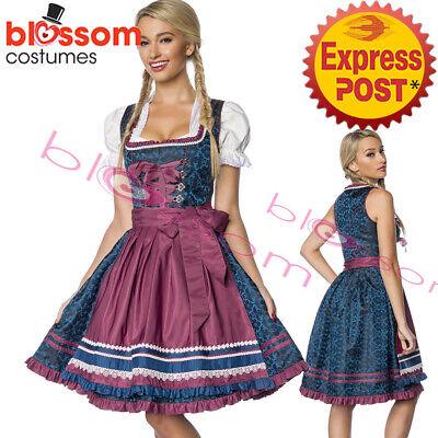 K411 Deluxe Oktoberfest Beer Maid Dress Up Heidi Costume Bavarian German Dirndl