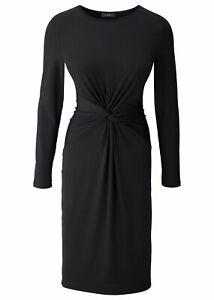 Kleid Gr. 32/34 Schwarz Damenkleid Midi Dress ...