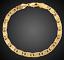 18k-Gold-Kette-Armkette-21cm-Schmuck-Koenigskette-Armband-Herren-Damen-vergoldet Indexbild 3