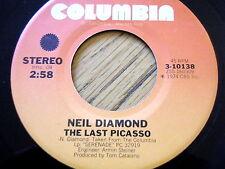"NEIL DIAMOND - THE LAST PICASSO  7"" VINYL"