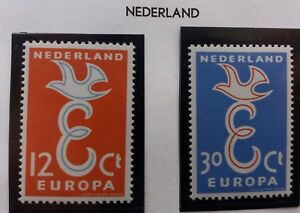 2 X Timbre Stamp Pays Bas Nederland 1958 YT 691 692 EUROPA CEPT Neufs