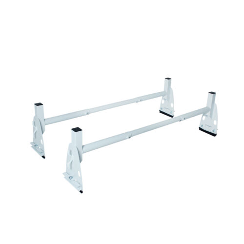 Van Roof Top Ladder Rack 2 Cross Bar 14.5/'/' Height Ford Chevy GMC White