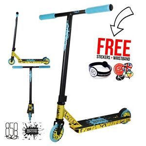 Ride-858-Backie-Complete-Stunt-Scooter-Gold-Blue-Kids-scooter