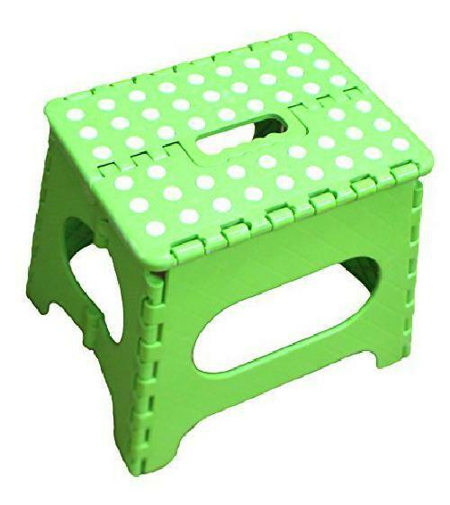 Awe Inspiring Jeronic 11 Inches Folding Stool For Adults And Kids Green Kitchen Ss051G Onthecornerstone Fun Painted Chair Ideas Images Onthecornerstoneorg