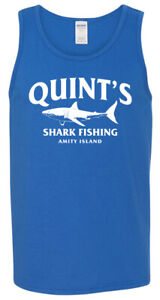 QUINT-039-S-Shark-Fishing-TANK-TOP-T-shirt-Jaws-Amity-Shark-Week