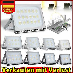 Ultra dünn LED Fluter mit Bewegungsmelder 20W 30W 50W 100W Lampe Außen Strahler