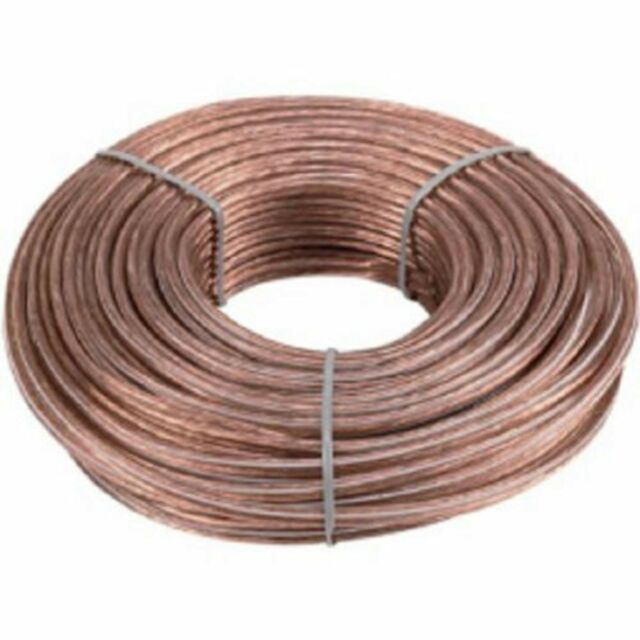 18 Gauge 100 Ft 2 Conductor Stranded Speaker Wire For Home or Car Audio Feet