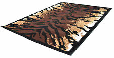 NUOVO Modern Medium 80 x 150cm ANIMAL PRINT TIGER SKIN Area Tappeti SOFT Tappetini
