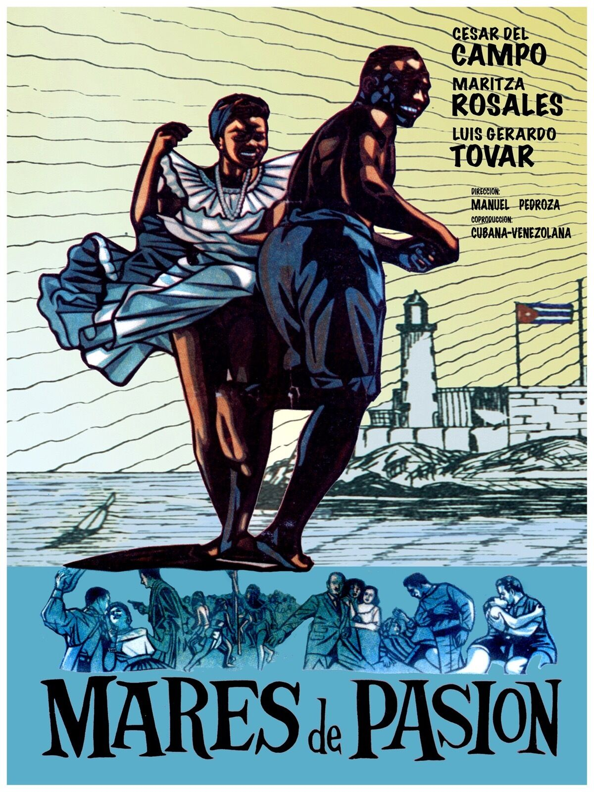 High Quality POSTER on Paper or Cotton Canvas.Movie Mares de Pasion.Rumba.3944