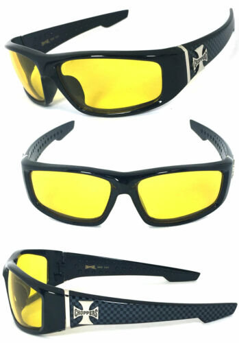 Choppers Mens Motorcycle Driving Riding Glasses Sunglasses Night Driving Lens