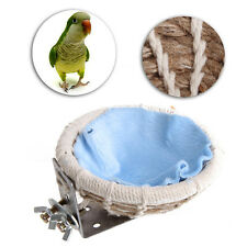 Bird Nest Breeding Hemp Rope House Home Weave Canary Finch Budgie Handmade Decor
