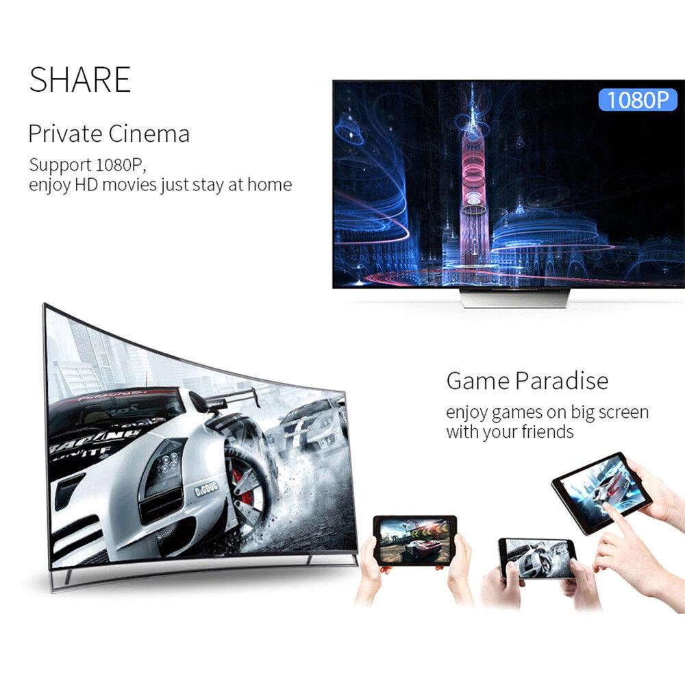 pour Google Chromecast 2 WiFi HDMI Écran Miroir HD 1080P Dongle youtube Miracast