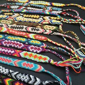 Image Is Loading Friendship Bracelets Handmade Woven Ropesstrings Hippy Boho Embroidery