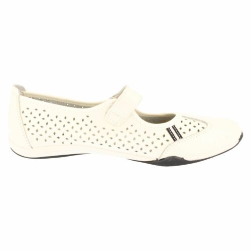 Down To Earth F80066 Ladies White Leather Casual Shoes