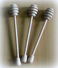 Wooden honey dipper spoon for jar or bowl - 5 each
