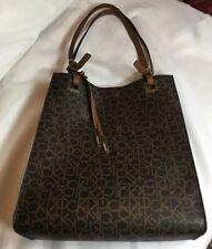 1681db59dfa Calvin Klein Extra Large Monogram Hudson Tote Shopper Purse Magnetic Close