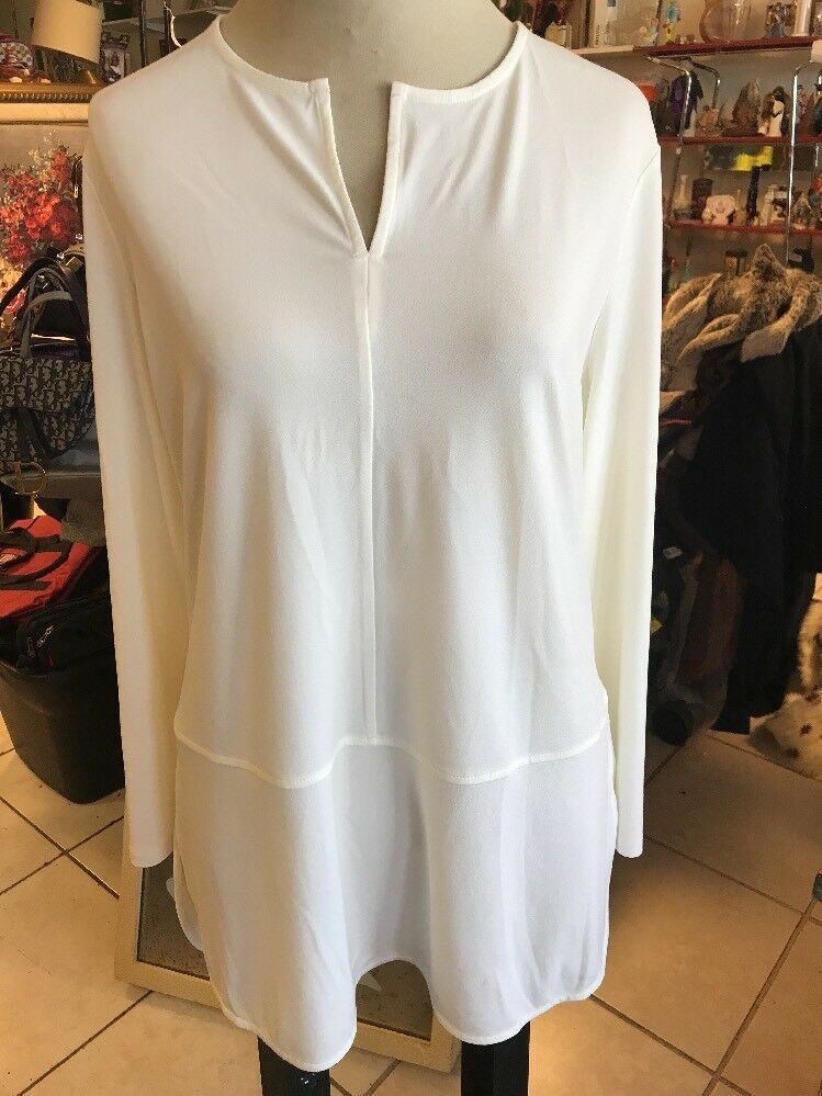 Ralph Lauren ladies Größe XL Weiß long sleeve top shirt blouse
