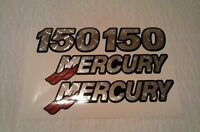 Mercury Outboard Diamond Plate Decals Sticker 17 Inch 25 - 90 Hp