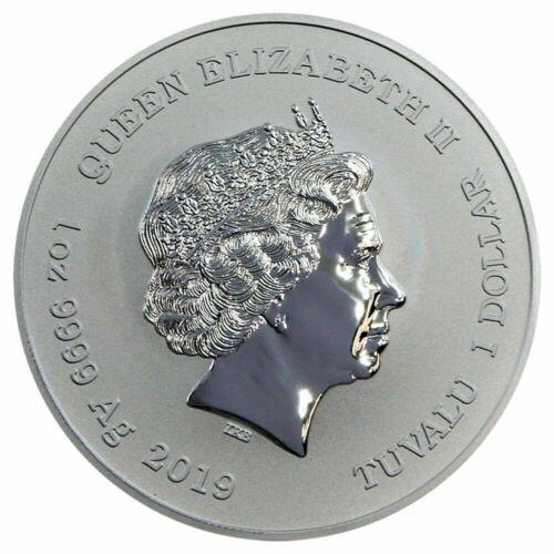 2019 Tuvalu Marvel Series Captain America 1 oz Silver Capsuled BU Coin IN-STOCK!