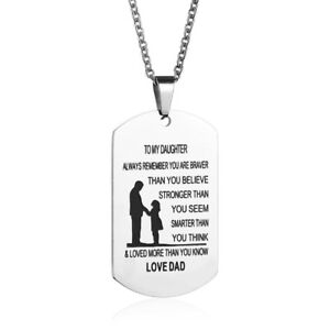 Father daughter pendant to my daughter always remember i love you image is loading father daughter pendant to my daughter always remember mozeypictures Choice Image