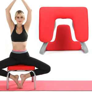 yoga steel headstand bench with pu pads inversion stool