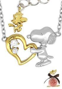 SNOOPY /& WOODSTOCK Necklace NEW Peanuts Gang Hug