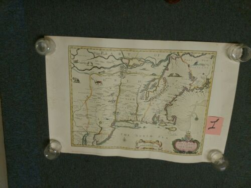 John Speed Reproduced 1676 Map Of New England and New York