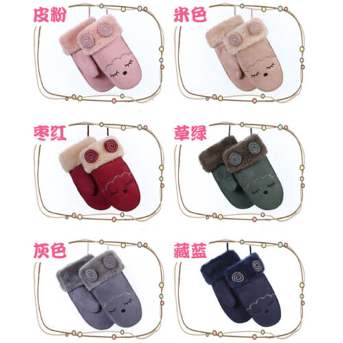 Winter Warm Toddlers Baby Boy Girls Kids Thick Gloves With Neck String Mittens L