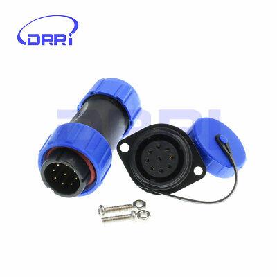 6Pin DRRI SP21 6pin Outdoor Waterproof Connector IP68 Plug /& Socket Power Cable Panel Mount