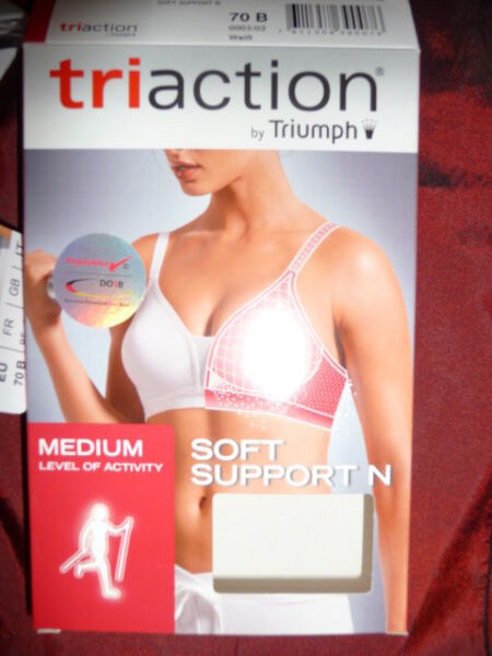 Triumph Triaction SOFT SUPPORT N weiß Sport-BH medium ohne Bügel  Neu!!