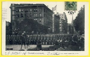cpa-Post-Card-Tres-Rare-USA-UNITED-STATES-NEW-YORK-in-1906-POLICE-PARADE