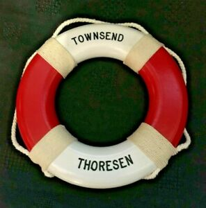 Ship-039-s-Miniature-Life-Preserver-Saver-Ring-Townsend-Thoresen