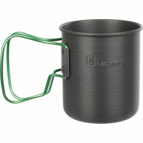 NEW Olicamp Travel Mug Lime Space Saver Hard Anodized Backpacking Camping 327482