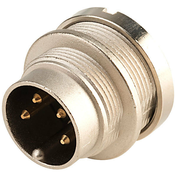 Lumberg SFV40 4 Pin Male DIN Plug IEC 60130-9 Straight Panel Mount