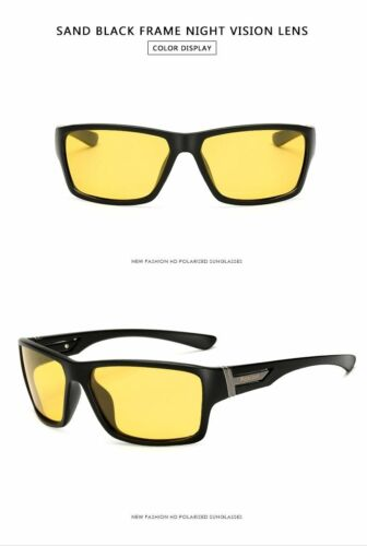 Men Night Vision Sunglasses UV400 Protection Driving Glasses Polarized Yellow
