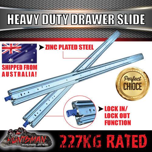 """Draw 711mm 227kg Heavy Duty Drawer Slides // Fridge Runners 500lb 28/"""""""