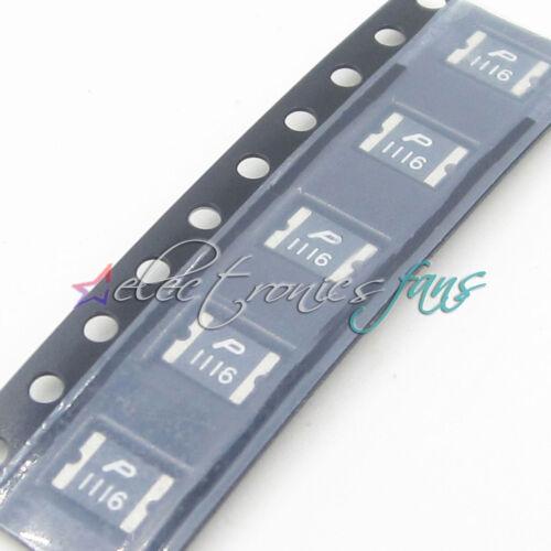 100 Pcs Everfuse Polyswitch SMT SMD Rückstellbar Fuses 1812 1.1A 16V