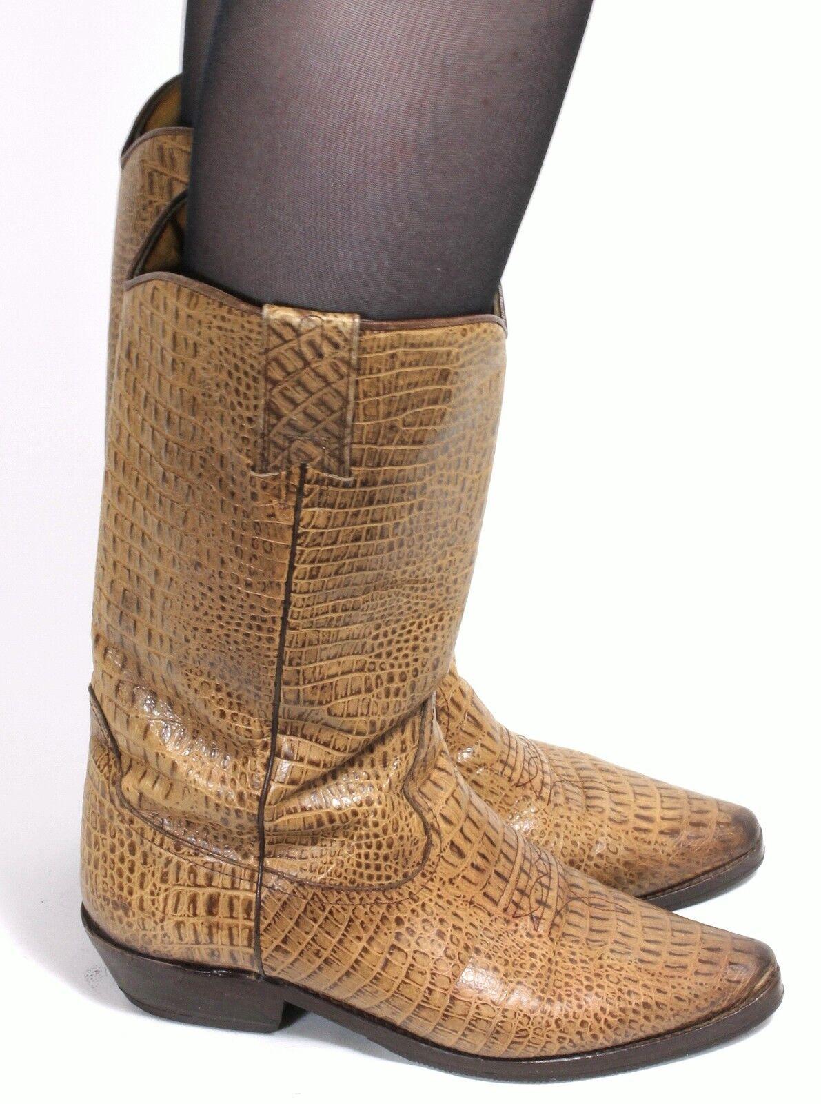 Stiefel Damenstiefel Lederstiefel Vintage Western Stiefel Lederstiefel Damenstiefel Westernstiefel Reptil 38 07cef8
