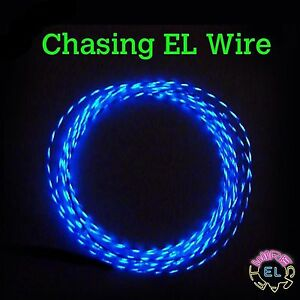 CHASING-EL-Wire-5-p-m-3-metres-of-2-3mm-Motion-EL-Wire-in-Many-Colours