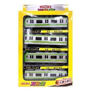 Tokids-Diecast-Green-KR-Metro-Train-Children-039-s-Toy-Miniature-Car-Vehicles-NHJK-C