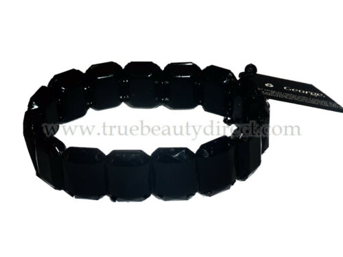 6 x GEORGE BLACK BEAD ELASTICATED BRACELETS FASHION ACCESSORY NEW PARTY BAGS