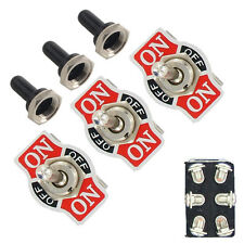 3Pc Metal 20A 125V 250V 15A DPDT 6Pin On/Off/On Rocker Toggle Switch Boot Knob