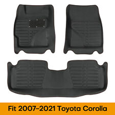 Otoez Pu Leather Car Floor Mat Total Protection For Toyota Corolla 2007 2021 Fits 2012 Toyota Corolla