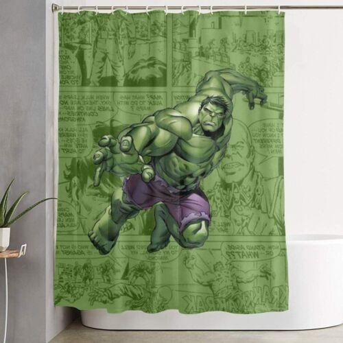 Superhero Hulk Polyester Fabric Waterproof Bathroom ShowerCurtain Accessory Set